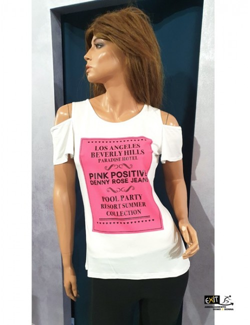 Denny Rose t-shirt art. 011ND64014 bianco
