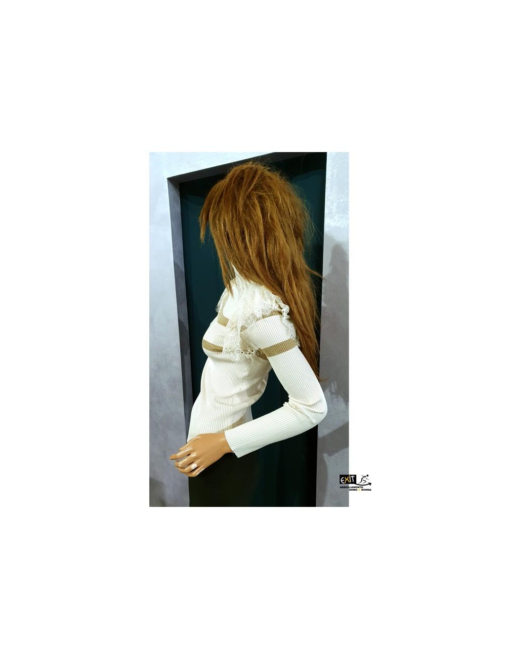 denny rose maglia 021DD50009_b bianco