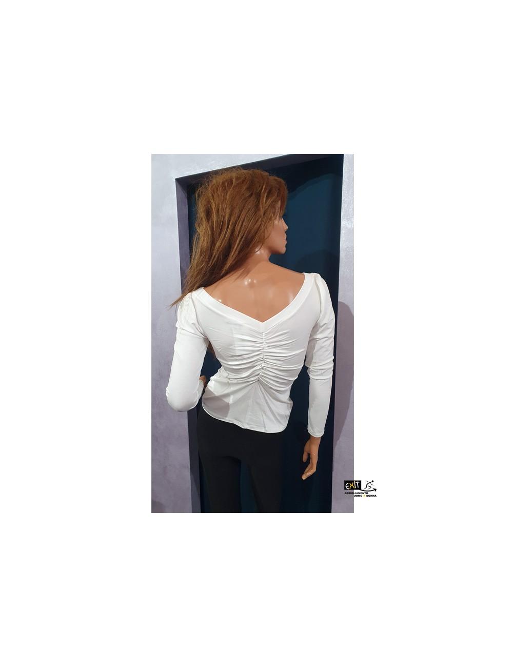 denny rose t-shirt 021DD60006_a_bianco