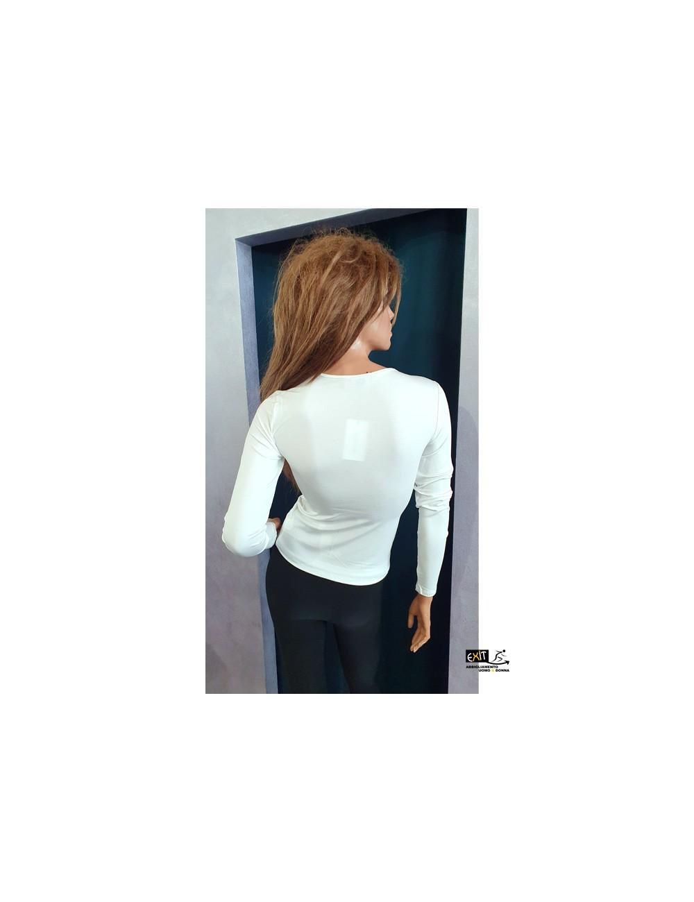 denny rose t-shirt 021DD60010_a_bianco