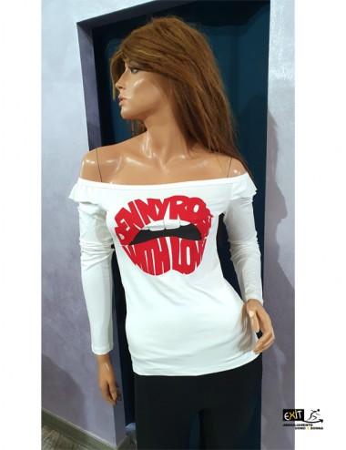 denny rose t-shirt 021DD60015_a_bianco